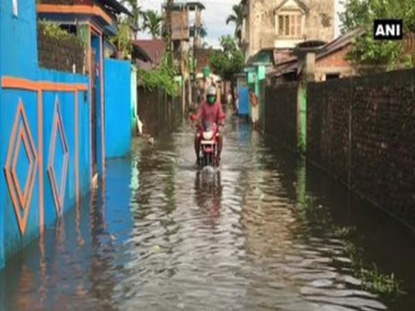 Water entered residential areas of Siliguri, following heavy rainfall in the region. [Photo/ANI]