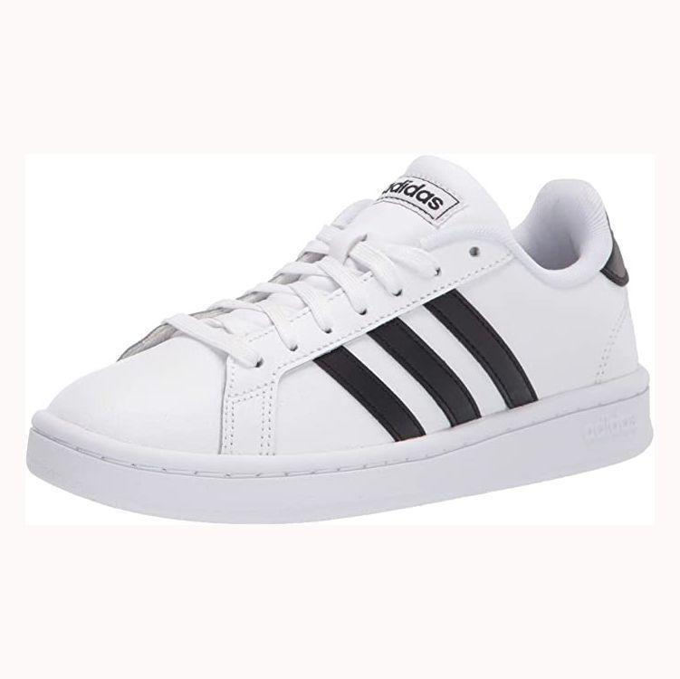 """<p><strong>adidas</strong></p><p>amazon.com</p><p><strong>$48.74</strong></p><p><a href=""""https://www.amazon.com/dp/B07DBHWSJR?tag=syn-yahoo-20&ascsubtag=%5Bartid%7C2139.g.33501651%5Bsrc%7Cyahoo-us"""" rel=""""nofollow noopener"""" target=""""_blank"""" data-ylk=""""slk:BUY IT HERE"""" class=""""link rapid-noclick-resp"""">BUY IT HERE</a></p><p>Need a new pair of shoes to wear for everyday occasions? You won't go wrong with Adidas' timeless Court Sneakers, which will go with everything from jeans to joggers. There's a reason these have a near-perfect rating based on over 16,000, after all.</p>"""