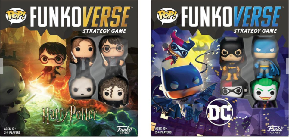 Funko releases its first-ever board games featuring characters from Harry Potter and DC Marvel.