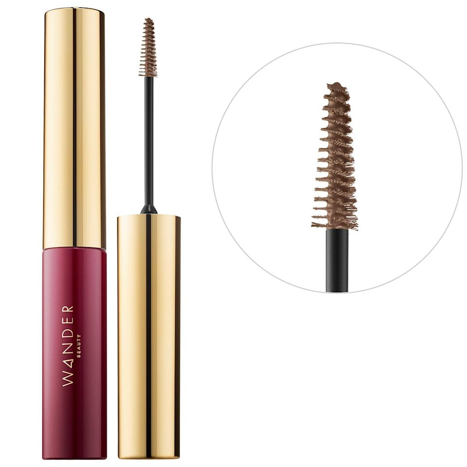 """<p>This top-rated <span>Wander Beauty Frame Your Face Precise Brow Gel</span> ($22) has a long, cone-shaped tip, making it perfect for grooming and sculpting unruly, hairs while also moisturizing them with panthenol at the same time.<br><br> <em>Love all things beauty? Can't get enough products? Come join our Facebook Group, <span><span class=""""s1"""">Real Reviews With POPSUGAR Beauty</span></span> There are lots of fun conversations happening there, as well as all the product recommendations you could ask for - not just from us, but also community members, too.</em></p>"""