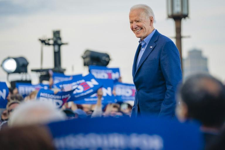 Former vice president Joe Biden has become the presumptive Democratic presidential nominee with Bernie Sanders' decision to drop out of the race (AFP Photo/Kyle Rivas)