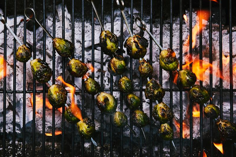 how to cook brussel sprouts on the grill
