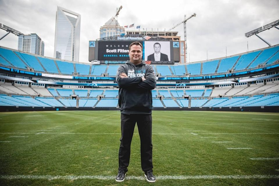 """New Carolina Panthers general manager Scott Fitterer was hired in January and says he wants to be """"in on every deal"""" in the NFL. If he could work a trade to get Deshaun Watson, it could be career-defining."""