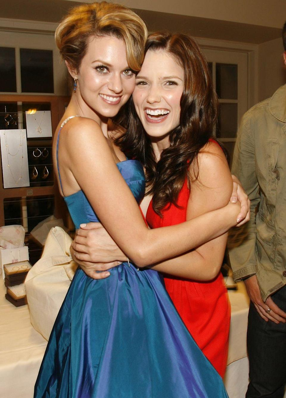 """<p>""""Sophia Bush is a hurricane of a woman. It's impossible not to get swept up in her enthusiasm, her activism, and her rabid curiosity about life. We're born only 7 days apart, and so I've been fortunate to find in her a star sister.....a sensitive, no bullsh*t, nurturer."""" — Hilarie Burton, <a href=""""https://www.bustle.com/p/sophia-bush-is-the-internets-dream-best-friend-but-shes-still-only-human-9431815"""" rel=""""nofollow noopener"""" target=""""_blank"""" data-ylk=""""slk:Bustle"""" class=""""link rapid-noclick-resp"""">Bustle</a></p><p>""""You're a champion for your community. An incredible mom. You're the alpaca whisperer. You're whip smart and razor sharp and deeply tender. There is no one I would have rather been on the world's most insane roller coaster with."""" — Sophia Bush to Burton on <a href=""""https://www.instagram.com/p/BWAuXUTDzmx/?hl=en"""" rel=""""nofollow noopener"""" target=""""_blank"""" data-ylk=""""slk:Instagram"""" class=""""link rapid-noclick-resp"""">Instagram</a></p>"""