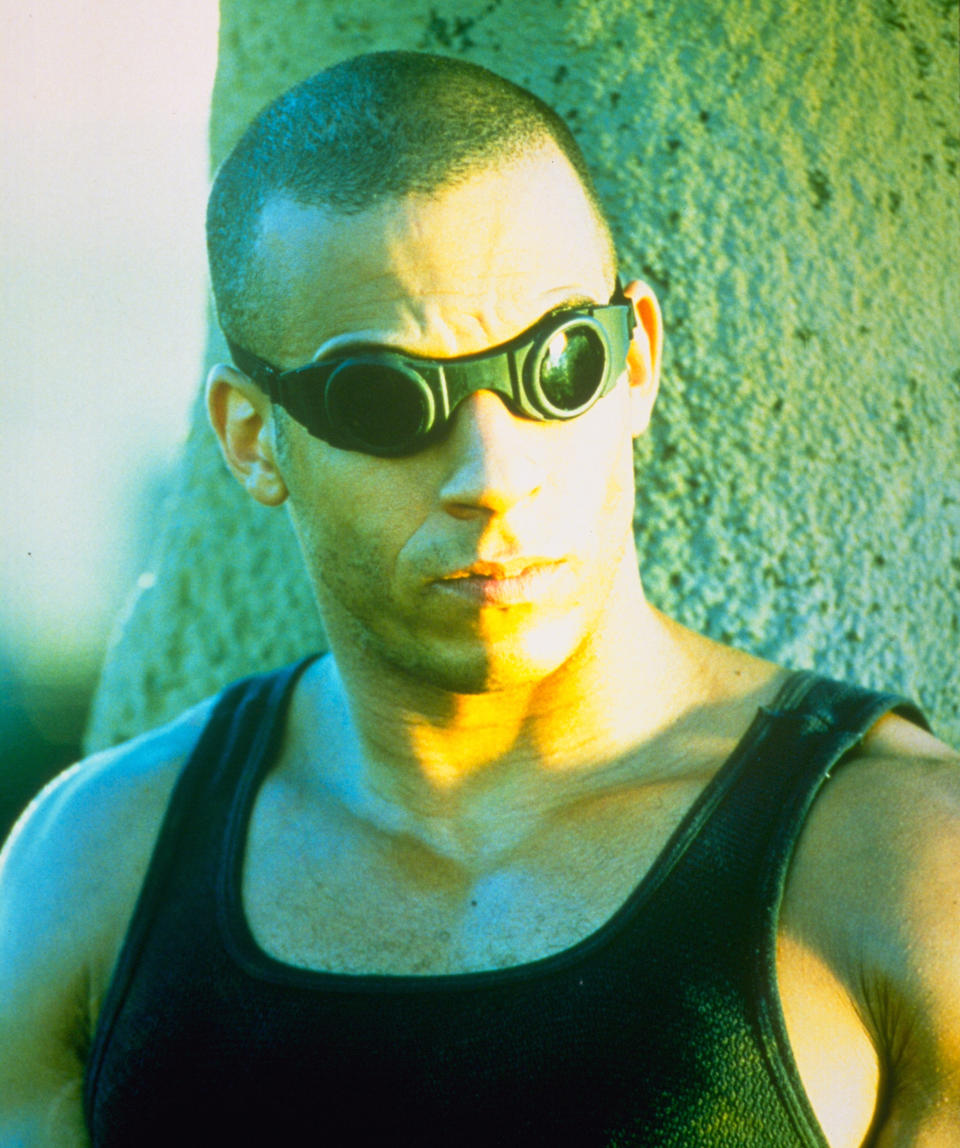 Vin Diesel as Riddick in 'Pitch Black. (Credit: Arrow Video)