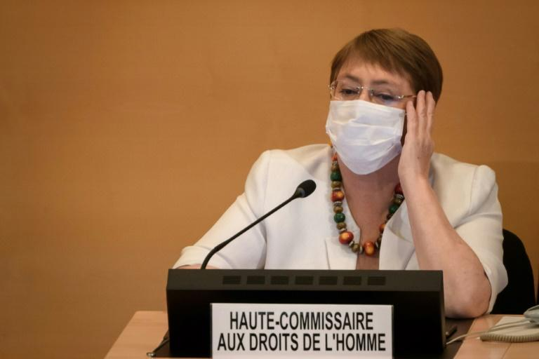 """The report by Michelle Bachelet (pictured June 2020), the United Nations High Commissioner for Human Rights, said her office """"remains concerned about the lack of independence in the justice system in Venezuela"""""""