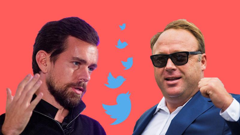 Jack Dorsey confirms that Twitter will not ban Alex Jones as no company policies were violated. Image: Tech2
