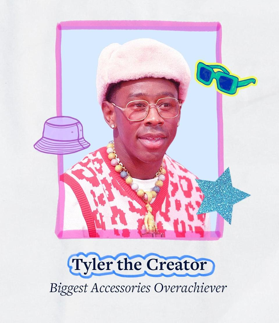"""<p>When Tyler the Creator showed up to the BET Awards, he left no accessory behind. It's a look that said """"I'm here for the fashion"""" - and incidentally, so are we. </p>"""
