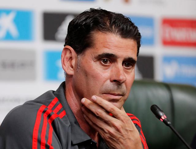 Soccer Football - World Cup - Spain Press Conference - Krasnodar, Russia - June 10, 2018 Spain coach Fernando Hierro during the press conference REUTERS/Stringer NO RESALES. NO ARCHIVES