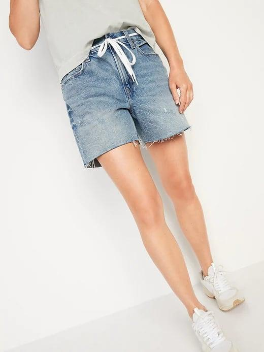 <p>When you don't like shorts that are too constricting, opt for a pair of these super-relaxed <span>Old Navy High-Waisted Slouchy Cut-Off Jean Shorts</span> ($35, originally $40).</p>