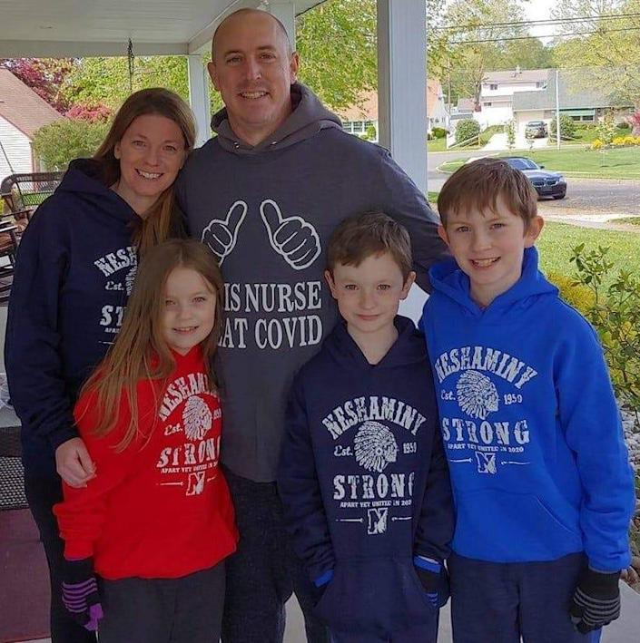 Stephen Donahue with his family.
