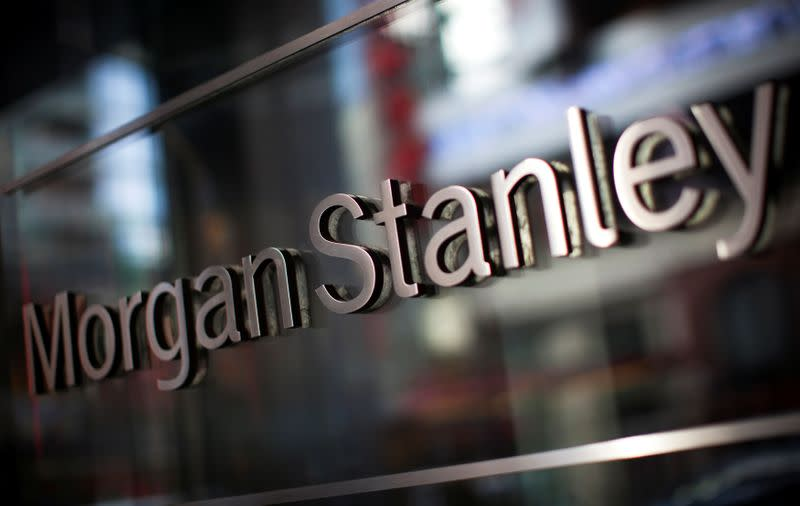FILE PHOTO: The corporate logo of financial firm Morgan Stanley is pictured on the company's world headquarters in the Manhattan borough of New York City