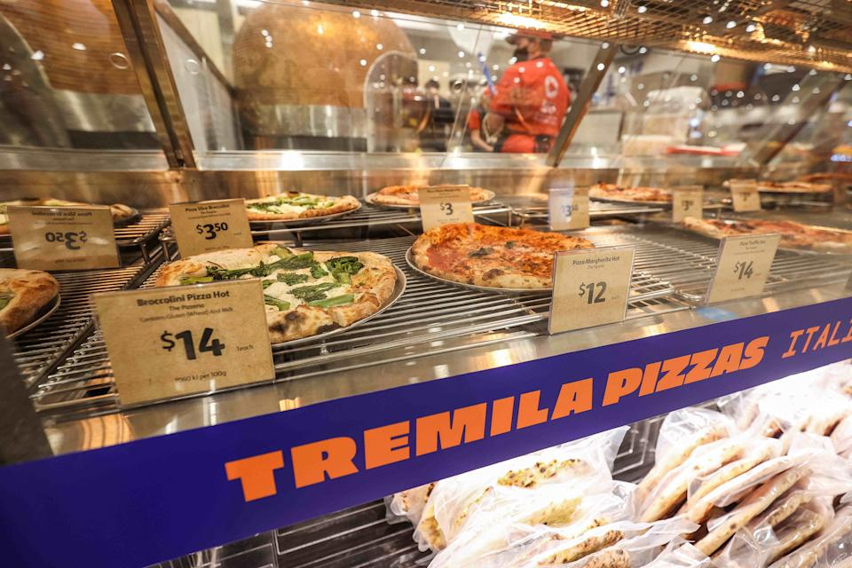 The Tremila Pizza bar at Coles.