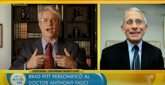Dr. Fauci saw - and loved! - 'SNL' Brad Pitt tribute to him