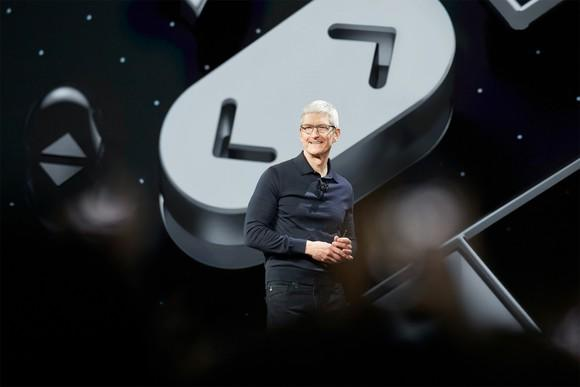 Apple CEO Tim Cook at WWDC.