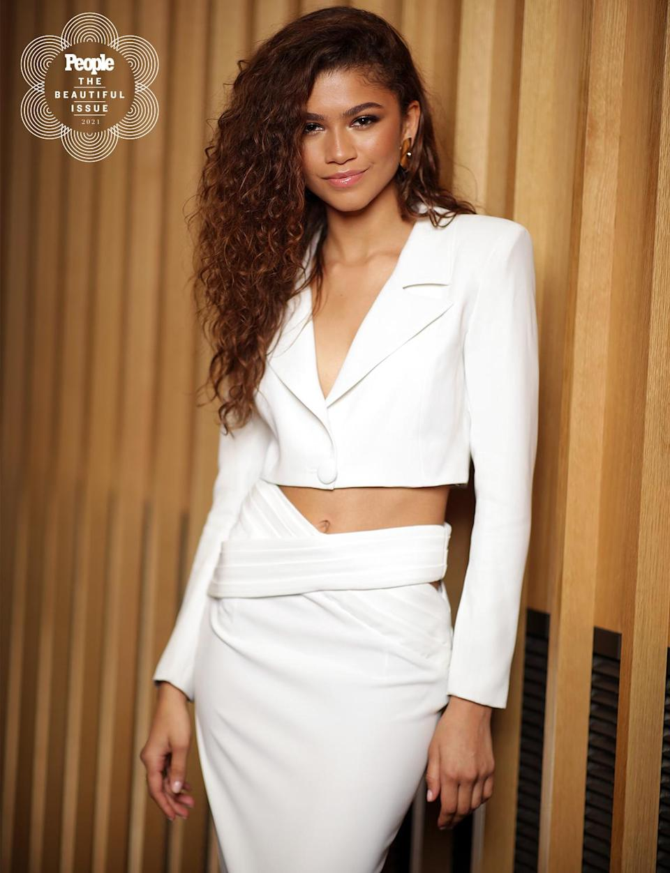 "<p>What didn't the 24-year-old accomplish this year? The <em>Euphoria</em> actress became the youngest woman to win best actress in a drama series at the Emmys, and was honored with the fifth-ever SeeHer Award at the 2021 Critics Choice Awards. Her work on-screen — and activism in real life — is earning her praise. </p> <p><a href=""https://people.com/movies/halle-berry-says-zendaya-proof-positive-changes-hollywood/"" rel=""nofollow noopener"" target=""_blank"" data-ylk=""slk:As Halle Berry told reporters"" class=""link rapid-noclick-resp"">As Halle Berry told reporters</a> in January, ""At 24, that she can have an idea and go get it done and get enough support behind her to get that done and to give her the power and to keep the creativity, I think that says so much for where we have gotten and that is what makes me want to keep fighting, because of Zendaya, at 24, a Black woman can do that.""</p>"