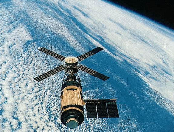 The U.S. space station Skylab in its prime during the mid-1970s.