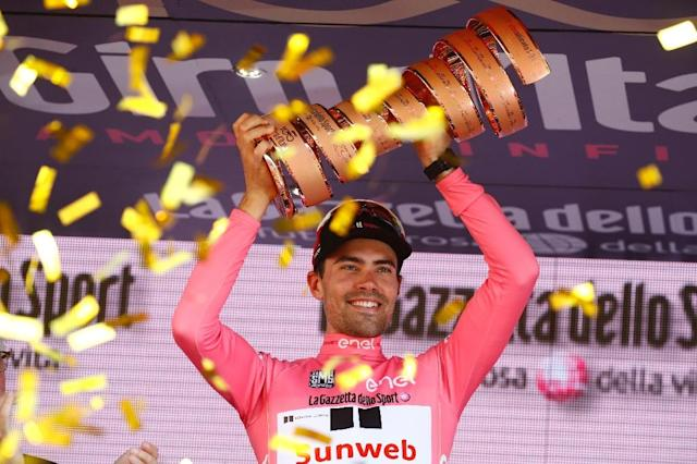 Tom Dumoulin won the Giro d'Italia in 2017 before finishing second a year later (AFP Photo/Luca Bettini)
