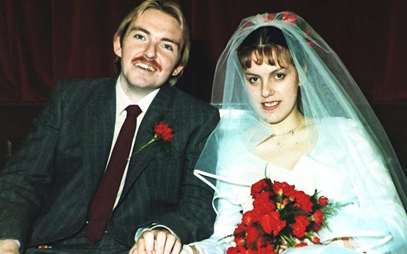 Dominic McCarthy and Deborah Winzar on their wedding day - collect/collect