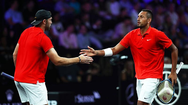Jack Sock and Nick Kyrgios got the doubles win for Team World.