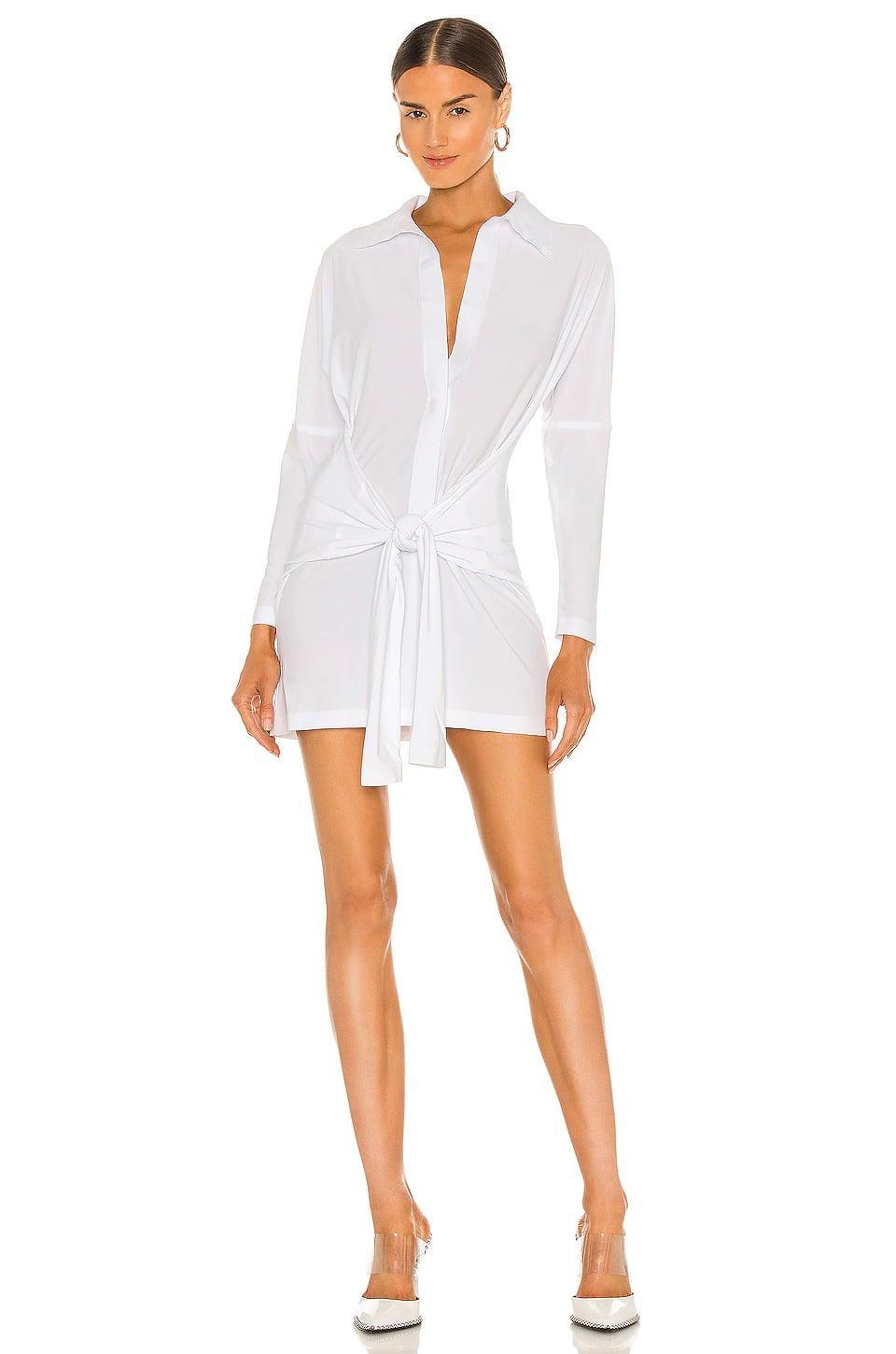 <p>The tie on this <span>Norma Kamali Mini Tie Front NK Shirt Dress</span> ($165) is super flattering. It's also really comfortable, so sign us up.</p>