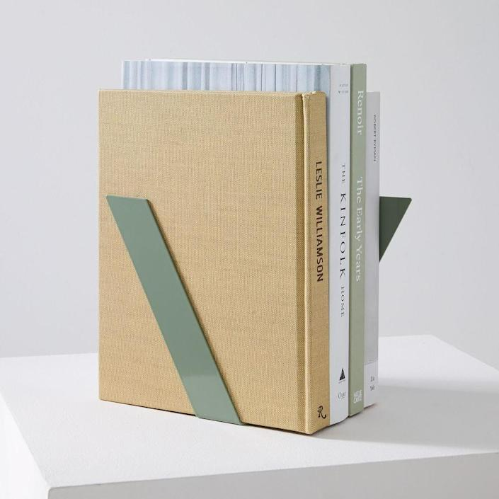 <p>These <span>Fruitsuper Bookends</span> ($32) are modern and chic.</p>