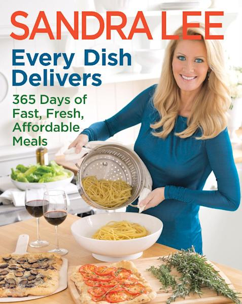 """This publicity photo provided by courtesy of Sandra Lee shows the cover of her cookbook, """"Every Dish Delivers: 365 Days of Fast, Fresh, Affordable Meals."""" Lee says her next cookbook will be her last. The Food Network star known for semi-homemade cooking says she wants to focus on her magazine, as well as home and gardening books. (AP Photo/Courtesy Sandra Lee)"""