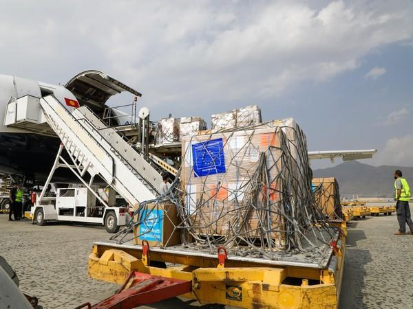 A plane carrying the medical supply landed in Kabul on Saturday.    (Photo credit: WHO Afghanistan /Twitter)