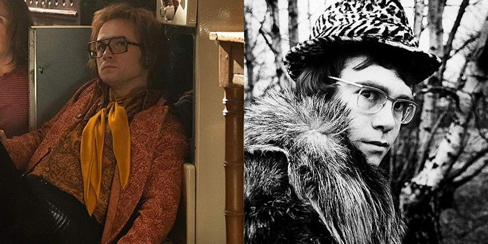 """<p>Egerton gave an award-winning performance in <em>Rocketman, </em>a biopic about Sir Elton John's meteoric rise to fame. The actor won his first Golden Globe for the film and thanked the pop icon <a href=""""https://www.hollywoodreporter.com/news/golden-globes-taron-egerton-wins-best-actor-rocketman-1266671"""" rel=""""nofollow noopener"""" target=""""_blank"""" data-ylk=""""slk:in his acceptance speech"""" class=""""link rapid-noclick-resp"""">in his acceptance speech</a>: """"To Elton John, thank you for the music, thank you for living life less ordinary, and thank you for being my friend,"""" he said. </p>"""