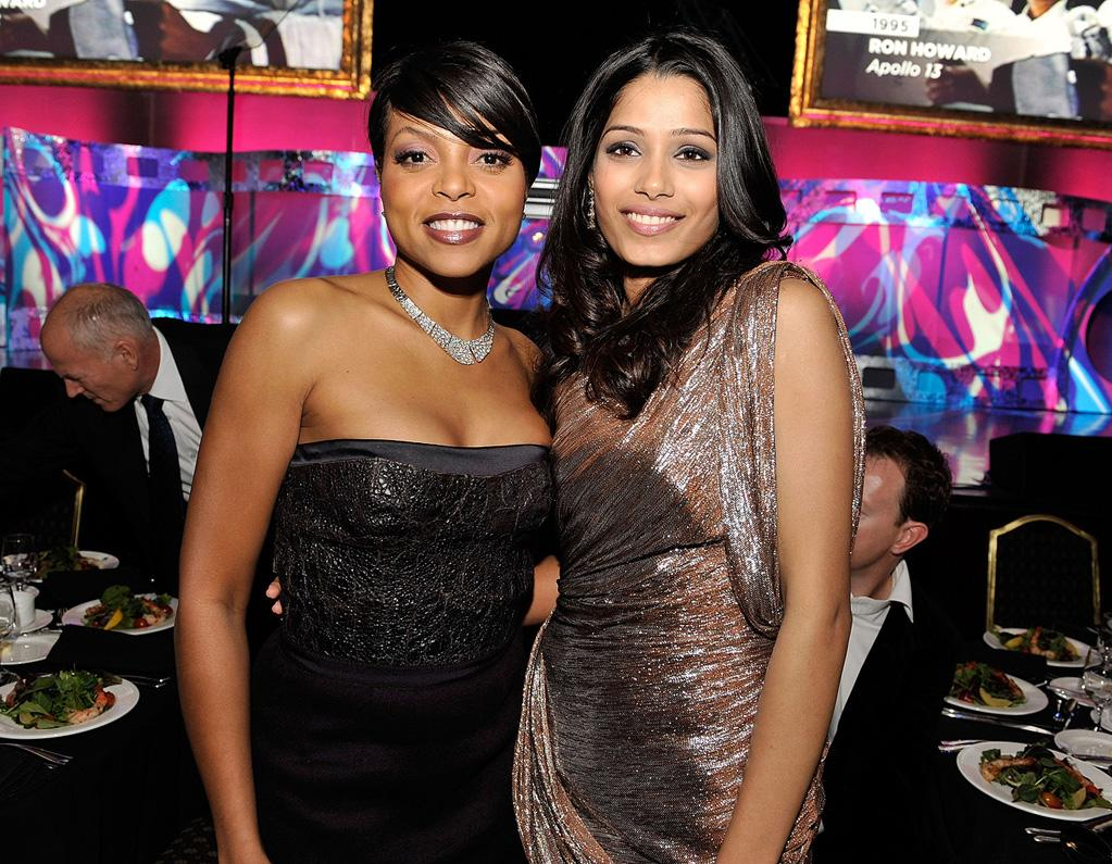 """<a href=""""http://movies.yahoo.com/movie/contributor/1804514499"""">Taraji P. Henson</a> and <a href=""""http://movies.yahoo.com/movie/contributor/1810042390"""">Freida Pinto</a> at the 61st Annual Directors Guild of America Awards in Los Angeles - 01/31/2009"""