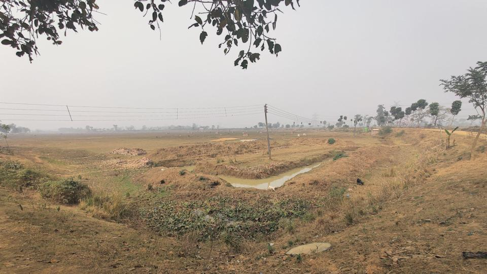 The 100 bighas of land bought and cleared for the Knowledge City.