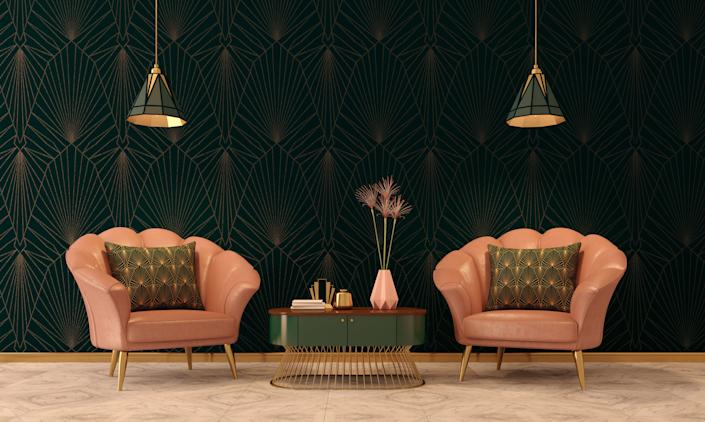 "If you're going for a ""Great Gatsby"" vibe, here are the best places to find art deco-inspired furniture and decor. (Photo: Ninoon via Getty Images)"
