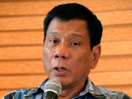 """President-elect Rodrigo """"Digong"""" Duterte speaks during a news conference in his hometown Davao City in southern Philippines, May 16, 2016.  REUTERS/Rene Lumawag"""