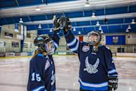 """<p>Learn how to play ice hockey in Alberta, in Western Canada. Pinnacle Ice Hockey has <a rel=""""nofollow noopener"""" href=""""https://www.travelalberta.com/uk/listings/pinnacle-hockey-canadian-hockey-player-experience-7179/"""" target=""""_blank"""" data-ylk=""""slk:a two-hour experience"""" class=""""link rapid-noclick-resp"""">a two-hour experience</a> that will see you don all the gear, pick up a stick and skate onto the rink, experiencing the thrill of Canada's best-loved winter sport first-hand. Pro coaches will teach you drills and skills, and you'll also learn about the history of the sport. From £66 per person.<br><i>[Photo: Alberta Canada]</i> </p>"""