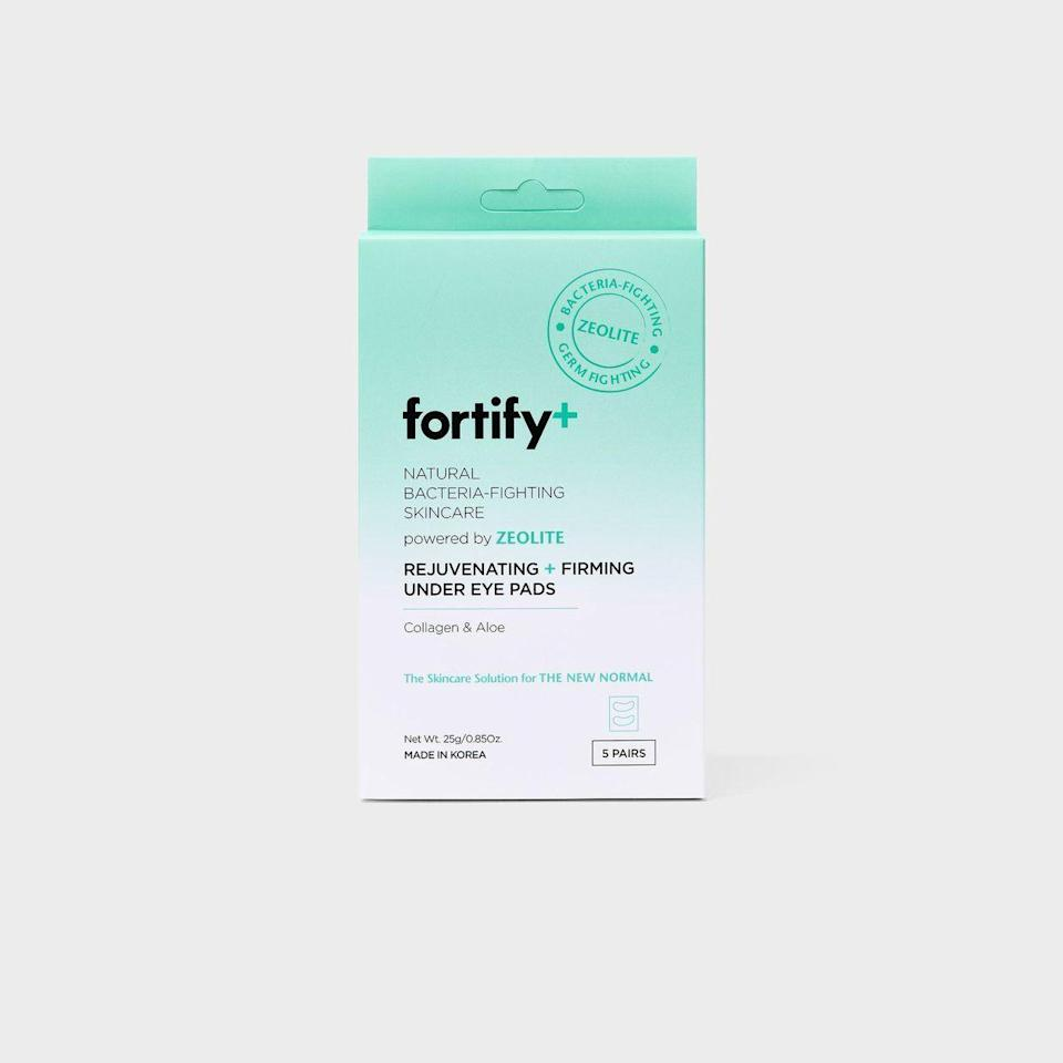 """<p><strong>Fortify</strong></p><p>target.com</p><p><strong>$8.99</strong></p><p><a href=""""https://www.target.com/p/fortify-natural-bacteria-fighting-skincare-rejuvenating-and-firming-under-eye-pads-5ct-3-7oz/-/A-80818689"""" rel=""""nofollow noopener"""" target=""""_blank"""" data-ylk=""""slk:Shop Now"""" class=""""link rapid-noclick-resp"""">Shop Now</a></p><p>These collagen-infused eye masks contain collagen, aloe, and hyaluronic acid to help hydrate and plump up tired undereyes. Store them in the fridge for those mornings when coffee just isn't cutting it.</p>"""