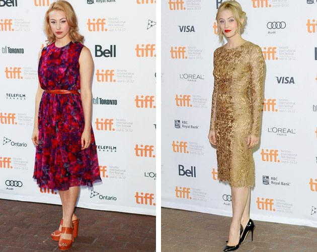 "Newly ubiquitous Canadian star Sarah Gadon was equally present at TIFF this year. The Cronenberg family muse joined Christina Hendricks on TIFF's first day as part of the cast of Jason Reitman's ""American Beauty"" live table read. Four days later, Gadon was still in town and posed on the red carpet for ""Antiviral,"" the film debut of David Cronenberg's son, Brandon, in which she plays a starlet with a rare (and coveted) disease."