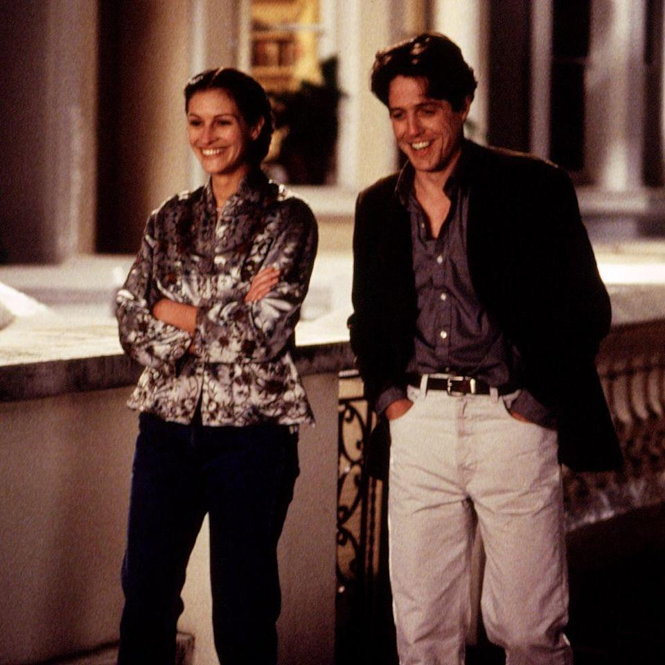 """<p><em>Notting Hill</em> (1999) isn't just one of Grant's most defining rom-com roles, it's one of the rare times he isn't portraying a pompous playboy. If anything, his role as a travel bookstore owner and his sheepish demeanor around Julia Roberts's celebutante character show Grant at his most endearing. </p><p><a class=""""link rapid-noclick-resp"""" href=""""https://go.redirectingat.com?id=74968X1596630&url=https%3A%2F%2Fwww.hulu.com%2Fmovie%2Fnotting-hill-edcf0595-0b5d-4fe5-bc8a-36a2ef0d3eb2%3Fcontent_id%3D957893%253F%26cmp%3D7958%26ds_rl%3D1263136%26gclid%3DCjwKCAiAoOz-BRBdEiwAyuvA6-FugZWUD875z2y1vgqDCjcRYLhIm_IcEc9b86QoYTj_MC9Dr0Ex0hoCUhQQAvD_BwE%26gclsrc%3Daw.ds&sref=https%3A%2F%2Fwww.harpersbazaar.com%2Fculture%2Ffilm-tv%2Fg34990725%2F10-hottest-hugh-grant-movie-roles%2F"""" rel=""""nofollow noopener"""" target=""""_blank"""" data-ylk=""""slk:WATCH NOW"""">WATCH NOW</a></p>"""