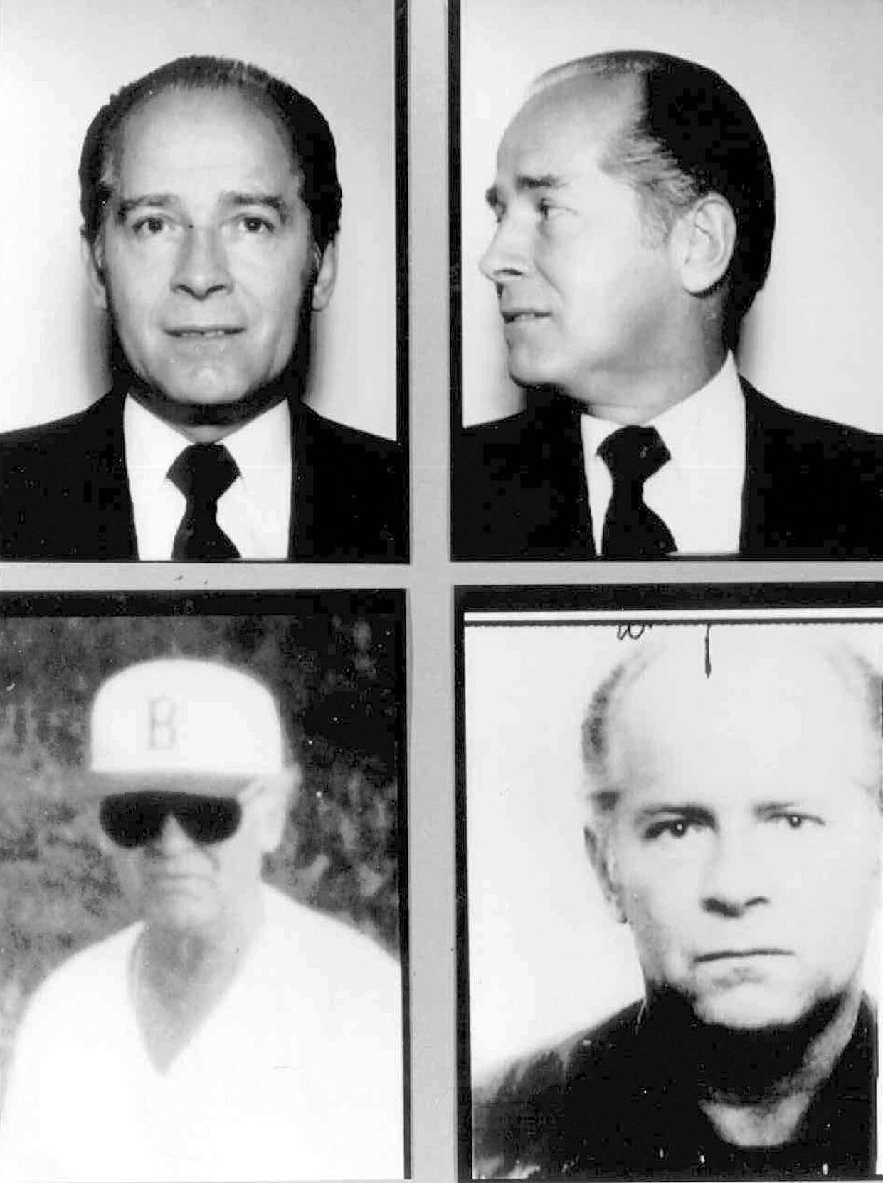 """These 1980s FBI handout file photos show Massachusetts mobster James """"Whitey"""" Bulger. Officials with the Federal Bureau of Prisons said Bulger died Oct. 30, 2018, in a West Virginia prison after being sentenced in 2013 in Boston to spend the rest of his life in prison."""