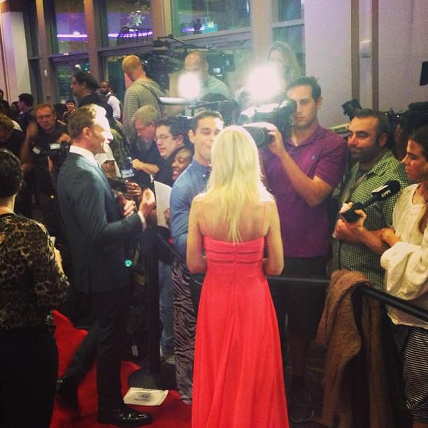 Press frenzy at #sharknado.
