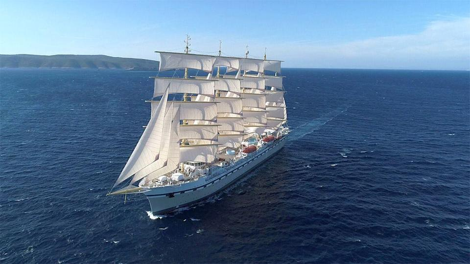 """<p>If discovering the beauty of Britain by sea wasn't exciting enough, this summer you can do it from Tradewind Voyages' new eco-luxury cruise ship, Golden Horizon. </p><p>Travelling from Harwich to Leith, you'll spend five days exploring Whitby, Newcastle and Edinburgh, from £1,049. Your time on the world's largest square-rigged sailing vessel, which is 70% powered by nature, could be spent unwinding in the spa or three pools, or relaxing in the piano bar. There's amazing dining to experience, too.</p><p><a class=""""link rapid-noclick-resp"""" href=""""https://www.goodhousekeepingholidays.com/tours/north-east-uk-whitby-newcastle-tradewind-cruise"""" rel=""""nofollow noopener"""" target=""""_blank"""" data-ylk=""""slk:BOOK NOW"""">BOOK NOW</a></p>"""