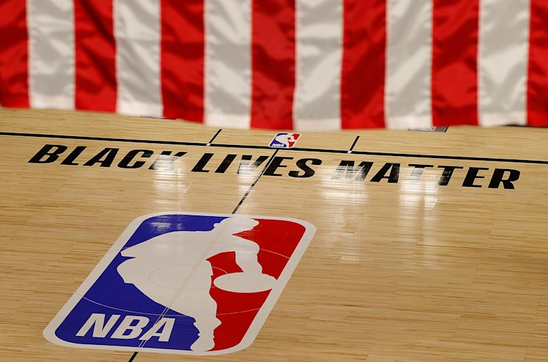 NBA playoff games on Wednesday and Thursday were postponed as players protested racial injustice. (Kevin C. Cox/Getty Images)