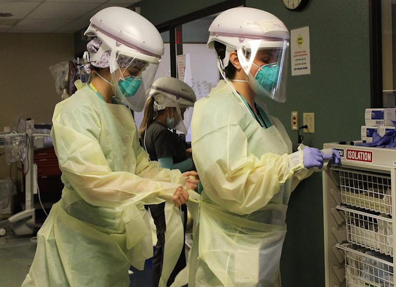 It takes time for Tucson Medical Center's staff to put on and take off the protective gear needed to keep them and patients safe.