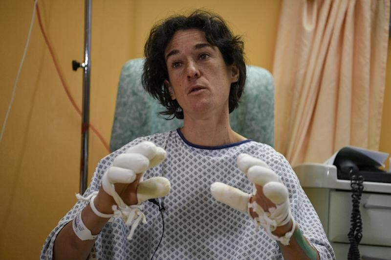 Mountaineer Elisabeth Revol after she was rescued while attempting to climb Nanga Parbat in 2018