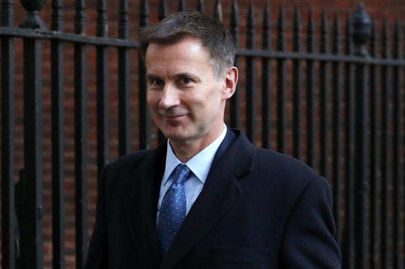 "Mr Hunt is siding with potential Cabinet rebels opposing a Brexit deal that would leave Britain ""locked in"" to the European Union: Simon Dawson/Reuters"