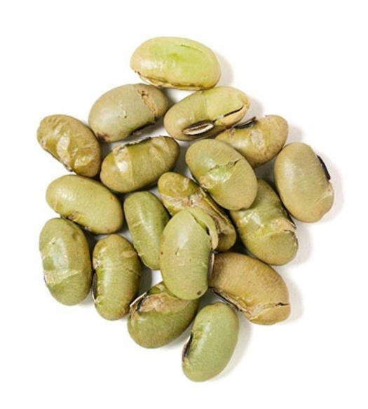 <p><strong>The Lowdown: </strong>(1/2 cup in shell with a dash of coarse salt) 90 calories, 4g fat, 168mg sodium</p> <p>Whole green soybeans eaten out of the pod are a great source of cholesterol-lowering soy protein. A half-cup serving provides 3 grams of fiber and 7 1/2 grams of protein, plus a little calcium, iron, and vitamin C.</p>