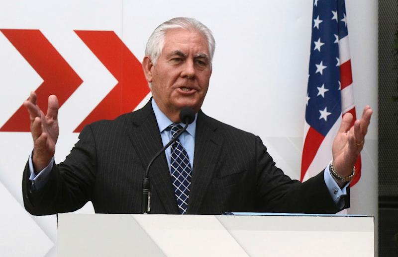 US Secretary of State Rex Tillerson said Russia must pull its forces out of Ukraine before ties with the West can recover (AFP Photo/Ronald Zak)