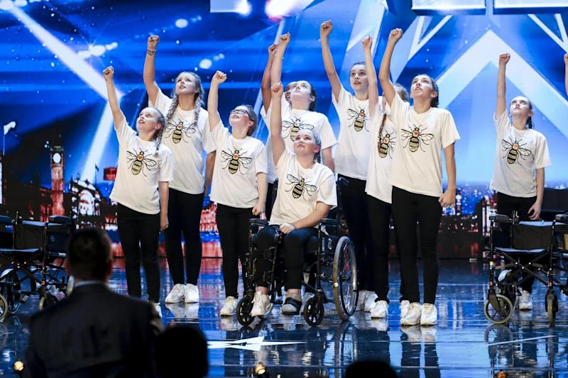 RISE: The young dance group performed to a medley of Ariana Grande hits (ITV/Syco/Thames)