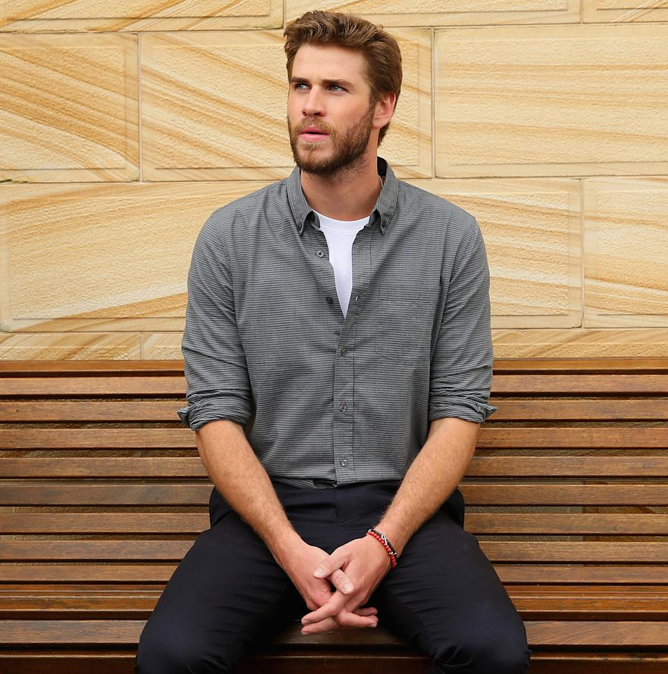 Liam Hemsworth poses during an 'Independence Day Resurgence' photo call  outside the Park Hyatt on June 1, 2016 in Sydney, Australia.  (Photo by Don Arnold/WireImage)
