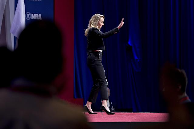 <p>Marion Marechal-Le Pen, France's National Front politician, waves after speaking at the Conservative Political Action Conference (CPAC) in National Harbor, Md., on Thursday, Feb. 22, 2018. (Photo: Andrew Harrer/Bloomberg via Getty Images) </p>