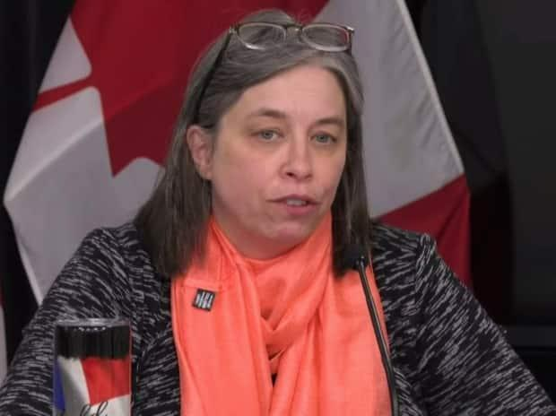 Chief Medical Officer of Health Dr. Janice Fitzgerald says six people in N.L. are in hospital because of COVID-19, four of them in central Newfoundland.  (Government of Newfoundland and Labrador - image credit)